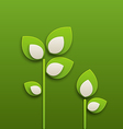 Abstract paper green plants ecology background vector image