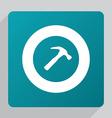 flat Hammer icon vector image