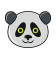 cartoon panda icon on white background vector image