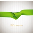 abstract background with green ribbon vector image vector image