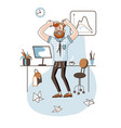 angry office worker flat vector image vector image