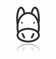 Animal Portrait Line Icon Pig vector image