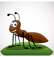 Ant cartoon character vector image vector image