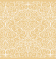 arabesque abstract classic element vintage white vector image