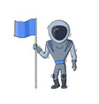 astronaut with flag vector image