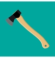 Axe ax hatchet with wooden handle vector image vector image