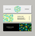 banners design flower of life vector image vector image
