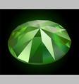 beautiful shining demantoid vector image vector image