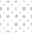 blossom icons pattern seamless white background vector image vector image