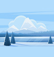 blue winter landscape flat vector image