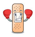 boxing sticking plaster on the cartoon shape vector image vector image