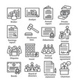 business management line icons pack 37 vector image vector image