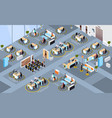 businesspeople keeping distance to prevent vector image vector image