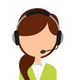 call center employee isolated icon design vector image