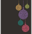 christmas background with balls hanging vector image vector image