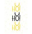 christmas card gold ho ho ho vector image vector image