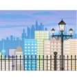 Cityscape with office and residental buildings vector image vector image