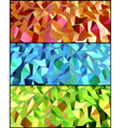 collection abstract backgrounds with triangle vector image