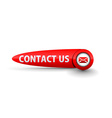 contact us icon design vector image vector image