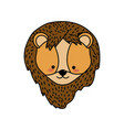 cute lion head wild animal vector image vector image