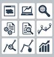 data analysis icons set vector image