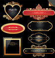 decorative ornate golden frames vector image vector image