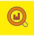 Diagram Search icon vector image
