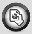 download button icon vector image vector image