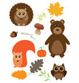 fall animals vector image