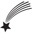 falling or shooting star vector image