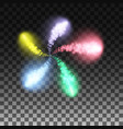 fireworks flare the spiral elements festive vector image