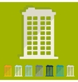 Flat design building vector image