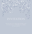 floral invitations vector image vector image