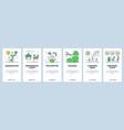 flower gardening website and mobile app onboarding vector image vector image