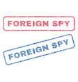 foreign spy textile stamps vector image vector image
