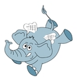 Funny elephant character on a white background vector image vector image