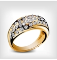 Gold diamond ring vector image