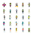 halloween characters pack vector image vector image