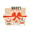 hand drawn abstract fun happy new year time vector image
