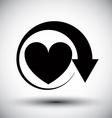 Heart conceptual simple single color icon vector image vector image