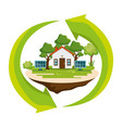 house save the world icon vector image vector image