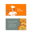 italian pizzeria business card template vector image vector image