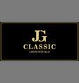 jg monogram classic logo design inspiration vector image