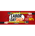 Labor Day Sale 50 Percent 6250x2500 pixel Banner vector image vector image