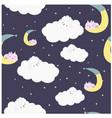 lamb on the night sweet cloud vector image