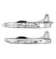 lockheed f-94 starfire vector image vector image