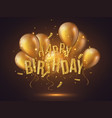 luxury happy birthday design vector image