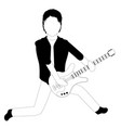 male avatar playing an electric guitar vector image