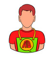 man in uniform icon cartoon vector image