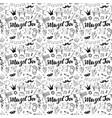 mazel tov seamless pattern jewish holiday hand vector image vector image